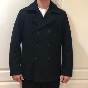 Banana Republic Men's Black Pea Coat Size L